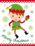 Elfo di natale illustrazione di stock