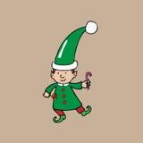 Elfo di Natale Immagine Stock