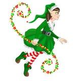 Elfo di Natale Fotografie Stock Libere da Diritti