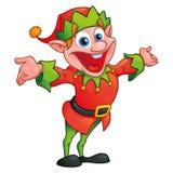Elfo di Natale nello stile del fumetto illustrazione vettoriale