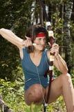 Elfo nella caccia Fotografia Stock