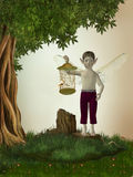 Elfo nella foresta Immagini Stock Libere da Diritti