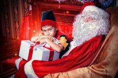 Elfo Santa Fotografia Stock Libera da Diritti