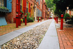 Elfreth Alley, Philadelphia stock photos
