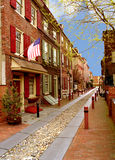 Elfreth's Alley. Oldest street in United States where people still reside Royalty Free Stock Photography