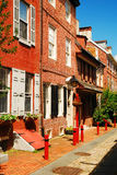 Elfreth`s Alley, the Oldest Street in America Stock Photos