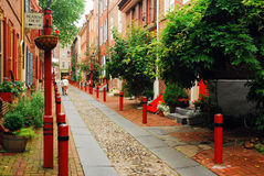 Elfreth's Alley in Philadelphia Royalty Free Stock Photos