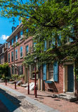 Elfreths Gasse, Philadelphia Stockfotografie