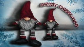 Elfs do Natal ilustração royalty free