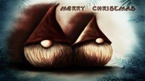 Elfs do Natal ilustração do vetor