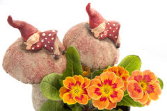 Elfs and flowers. Two elf sleeping with flowers Stock Photography