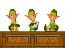 Elfs Working royalty free illustration