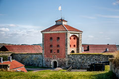 Elfsborg Fortress. Main building at Elfsborg Fortress, located on a island situated at the mouth of the Gota River and served to protect medieval Sweden's mainly royalty free stock image