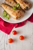 Elft met tomaat en Spaanse pepers Royalty-vrije Stock Foto's