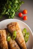 Elft met tomaat en Spaanse pepers Royalty-vrije Stock Afbeelding