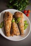 Elft met tomaat en Spaanse pepers Stock Fotografie