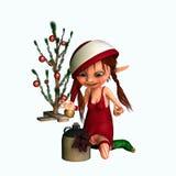 elfy wsobny s Santa royalty ilustracja