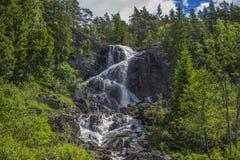 Elga fällt (auf Norwegisch Elgåfossen) Lizenzfreies Stockbild