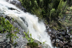 Elgaafossen (Elga Waterfall) View from drop. Elgåfossen Østfold's highest unregulated waterfall with a drop of 46 meters. The farthest south in Østfold, near Stock Image