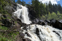 Elgafossen (Elga Watefall) Another Angle. Elgåfossen Østfold's highest unregulated waterfall with a drop of 46 meters. The farthest south in Østfold, near Stock Photo