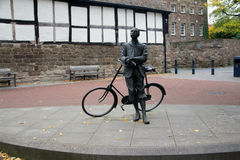 Elgar and his bike Stock Images