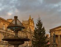 Elgin, рождество 2013 главной улицы Стоковая Фотография RF