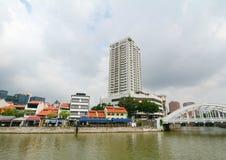 Elgin bridge, over the Singapore River Stock Photo