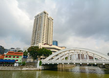 Elgin bridge, over the Singapore River Stock Photography