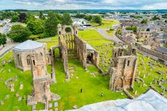 Elgin Cathedral, historische Ruine in Elgin, Moray, Nordost-Schottland lizenzfreies stockfoto