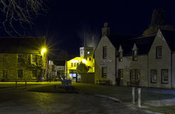 Elgin , Johnstons Cashmere at night. Royalty Free Stock Photo
