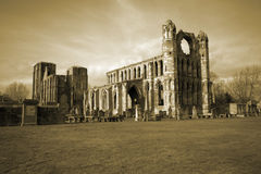 Elgin Kathedrale in Schottland lizenzfreie stockbilder