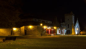 Elgin Library la nuit. Photos stock