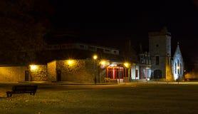 Elgin Library på natten. arkivfoton