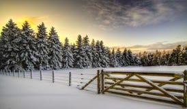 ELGIN - MILLBUIES IN SNOW stock photography