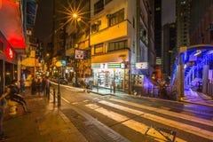 Elgin Street vid natt Arkivfoto