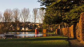 Elgins tunnbindare Park i December. royaltyfri fotografi