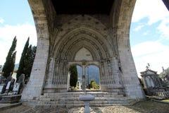 Elgoibar begraafplaats in Gipuzkoa royalty-vrije stock afbeeldingen