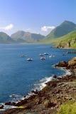Elgol海岸线,斯凯岛,苏格兰小岛  免版税库存照片