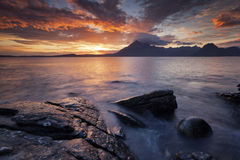 Elgol IX. View on the mountains from Elgol village, Isle of Skye, Scotland, UK Stock Image