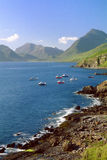 Elgol kustlinje, ö av Skye, Skottland Royaltyfri Foto