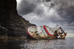 Elgol V. Shipwreck on close by Island of Rum, Isle of Skye, Scotland, UK Stock Photos