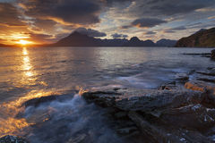 Elgol VI. View on the mountains from Elgol village, Isle of Skye, Scotland, UK Royalty Free Stock Photography