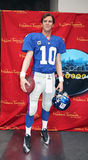 Eli Manning At Madame Tussauds. Eli Manning wax figure At Madame Tussauds Museum in NYC Stock Image