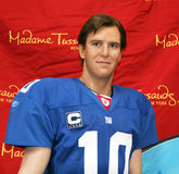 Eli Manning At Madame Tussauds. Eli Manning wax figure At Madame Tussauds in NYC. 2.1.12 stock photos