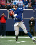 Eli Manning Quarterback of the New York Giants. Sitting the pocket getting ready to pass the Football Stock Photography
