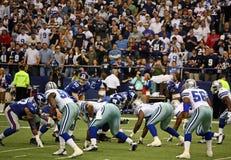 Eli Manning recebe a pressão Foto de Stock