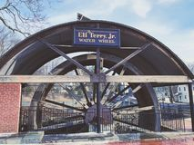 The Eli Terry Jr. Water Wheel royalty free stock images