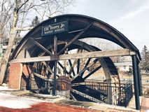 The Eli Terry Jr. Water Wheel royalty free stock image