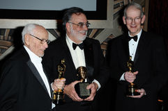 Eli Wallach,Francis Ford Coppola,Kevin Brownlow Stock Image
