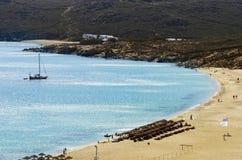 Elia beach, Mykonos, Greece Royalty Free Stock Photos